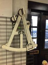 FOLK ART SEXTANT, PROBABLY MADE IN THE LAST 30 YEARS, MEASURES 36