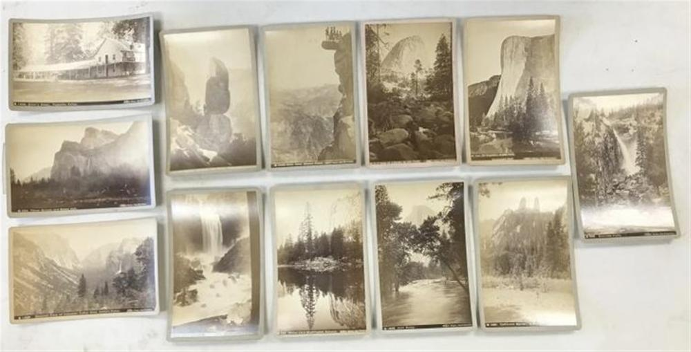 12 BOUDOIR CARD PHOTOS OF YOSEMITE BY TABER, SAN FRANCISCO, GOOD CONDITION, AS PICTURED