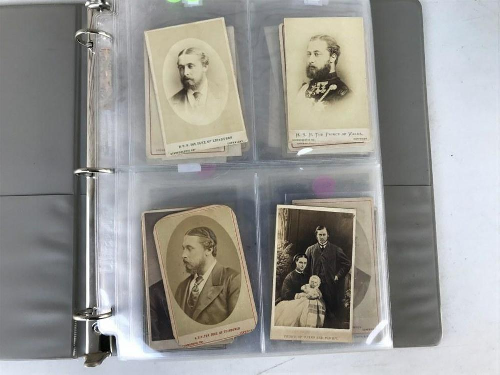 LOT OF 71 IMAGES INCLUDING 18 CDV'S OF BRITISH ROYALTY. ALSO MEN, WOMEN, CHILDREN, FAMILIES, AND MORE, AS PICTURED