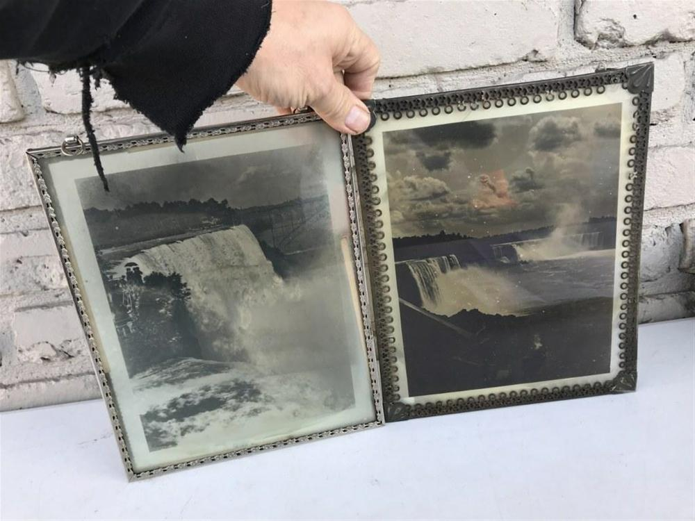 "2 LITHOPANES OF NIAGARA FALLS, MEASURE 8"" X 10"", AS PICTURED"
