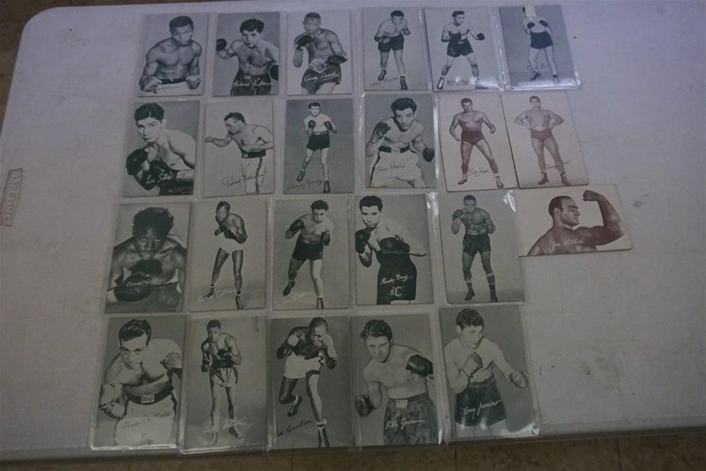 23 MUTOSCOPE CARDS INCLUDES 20 BOXERS AND 3 WRESTLERS, ALL IN EXCELLENT CONDITION.