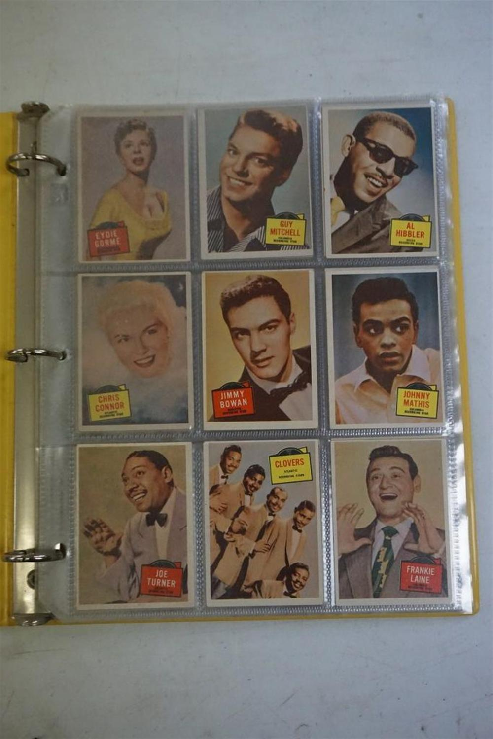57 TOPPS HIT STARS CARDS, IN VERY NICE CONDITION, INCLUDING MANY STARS.
