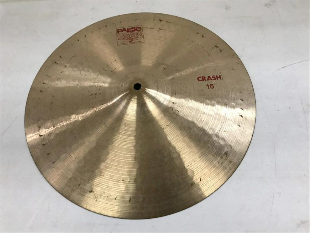 "PAISTE 2002 16"" CRASH CYMBAL, FROM LOCAL ESTATE, IN NICE AS FOUND ESTATE CONDITION."