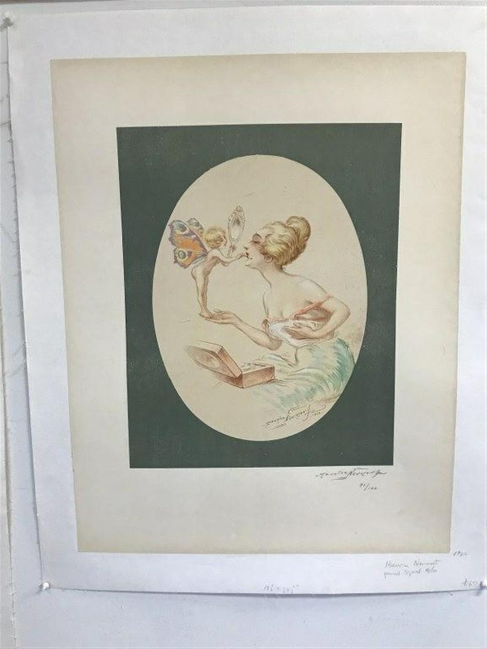 "POSTER- MAURICE NEUMONT, PENCIL SIGNED, 91/100, 1922, LINEN BACKED, POSTER MEASURES 24 1/2"" X 19 1/2""."