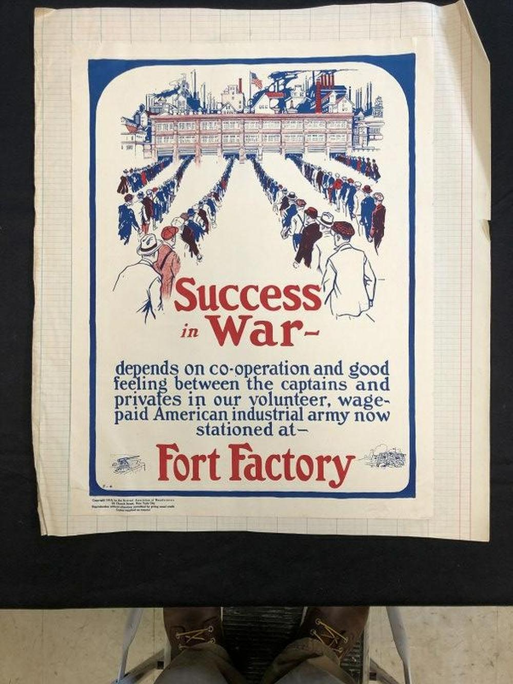 (2) WW I POSTERS SUCCESS IN WAR & THE TEST OF OUR