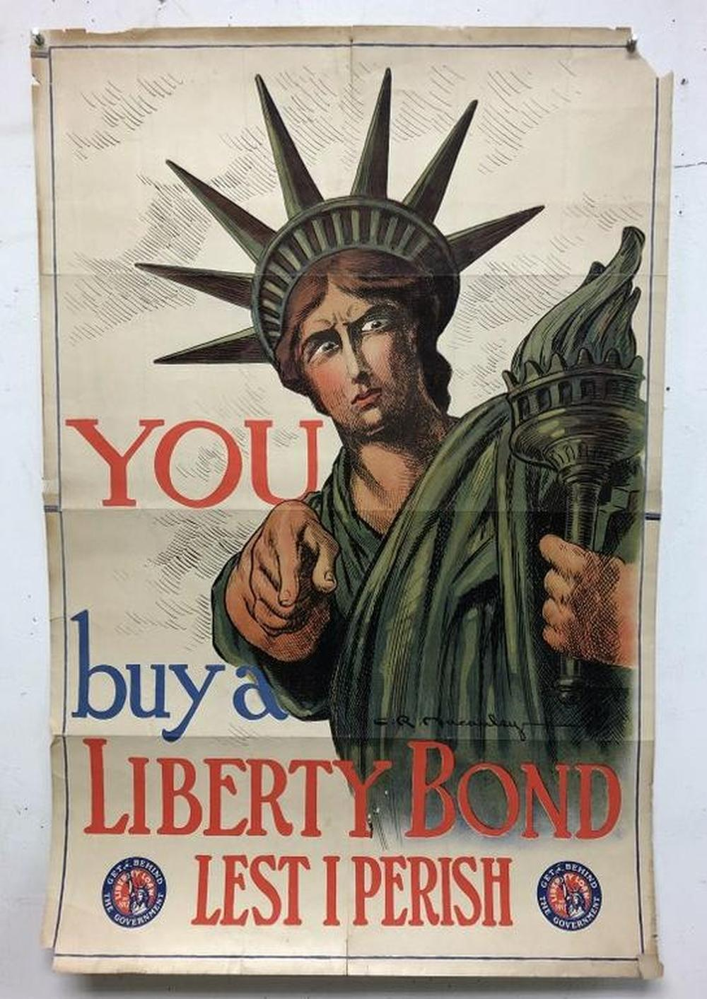 WWI POSTER-YOU BUY A LIBERTY BOND LEST I PERISH, ARTIST