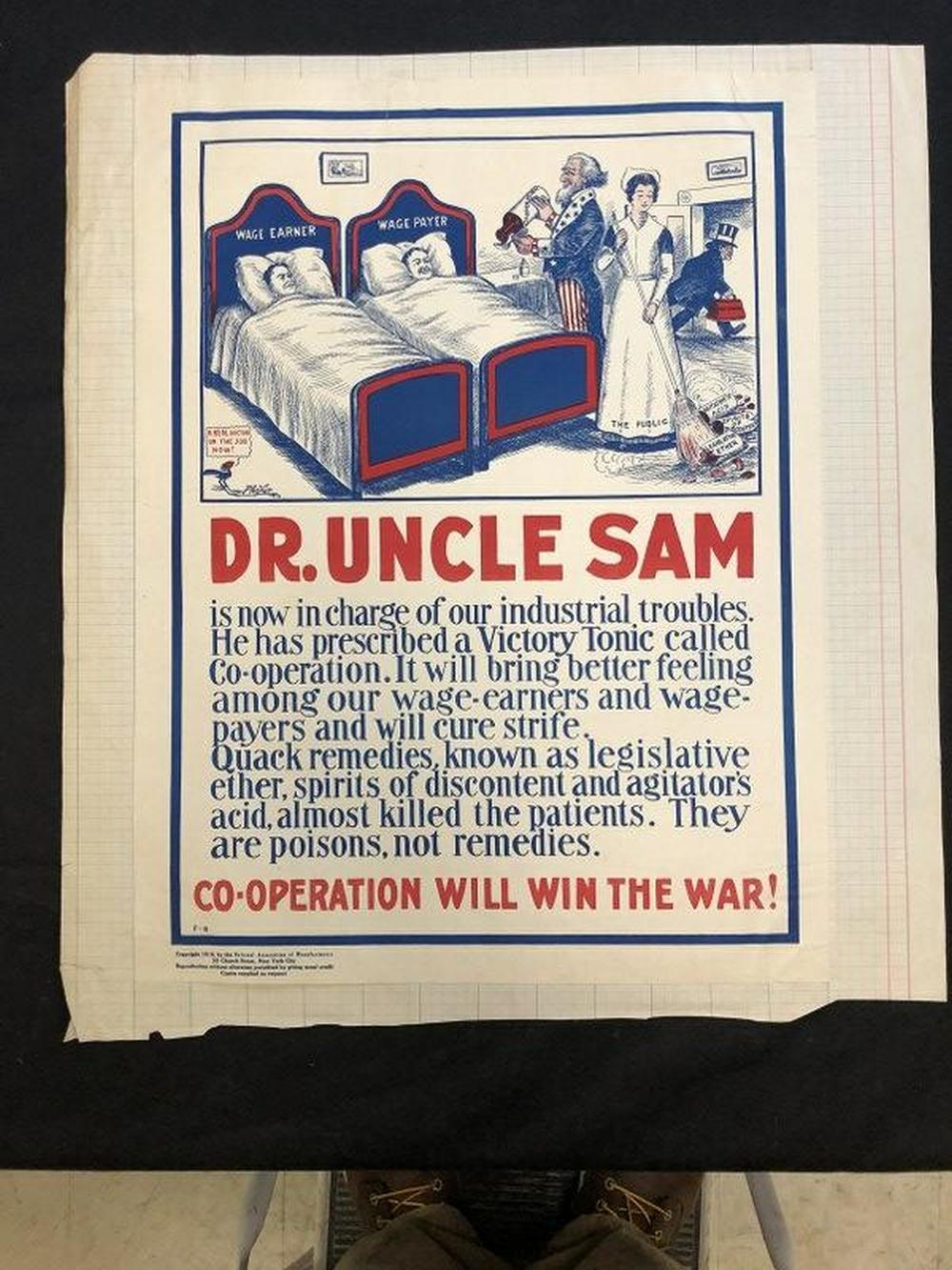 (2) WW I POSTERS WHICH BRIDGE DO YOU WANT & DR. UNCLE
