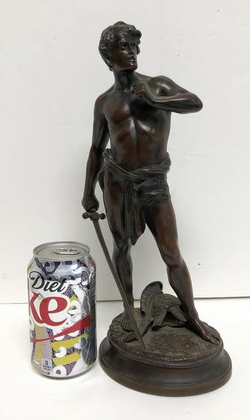 PAUL LUDWIG KOWALCZEWSKI BRONZE MAN WITH SWORD, WITH