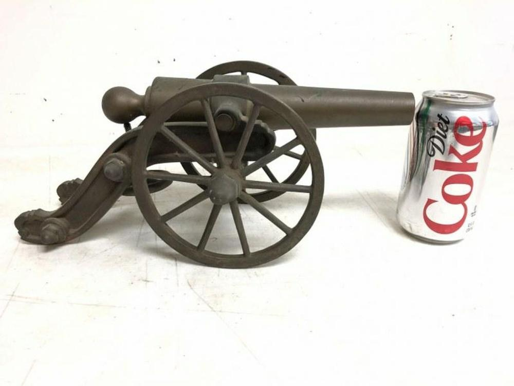 "HEAVY BRASS 14"" LONG CANNON, I SEE NO MARKINGS, FROM"