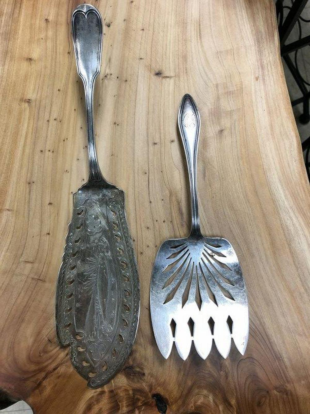 STERLING 2 PCS- FISH KNIFE & SERVING FORK, BOTH