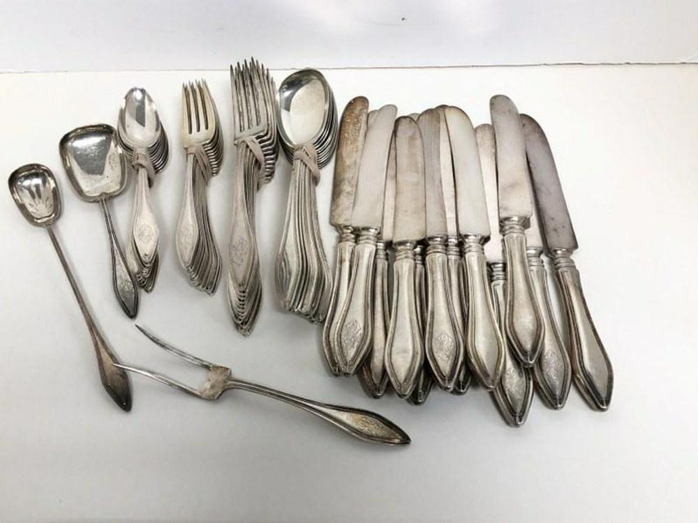 STERLING 63 PIECE FLATWARE SET INCLUDING 12 DINNER