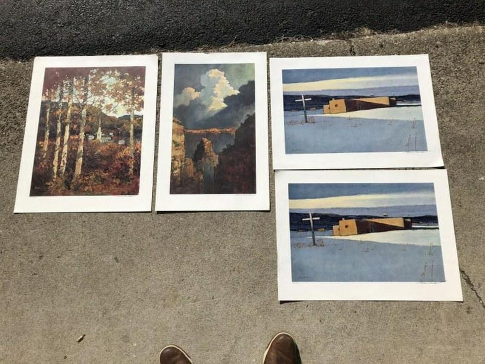 (4) ERIC SLOANE SIGNED LIMITED EDITION PRINTS