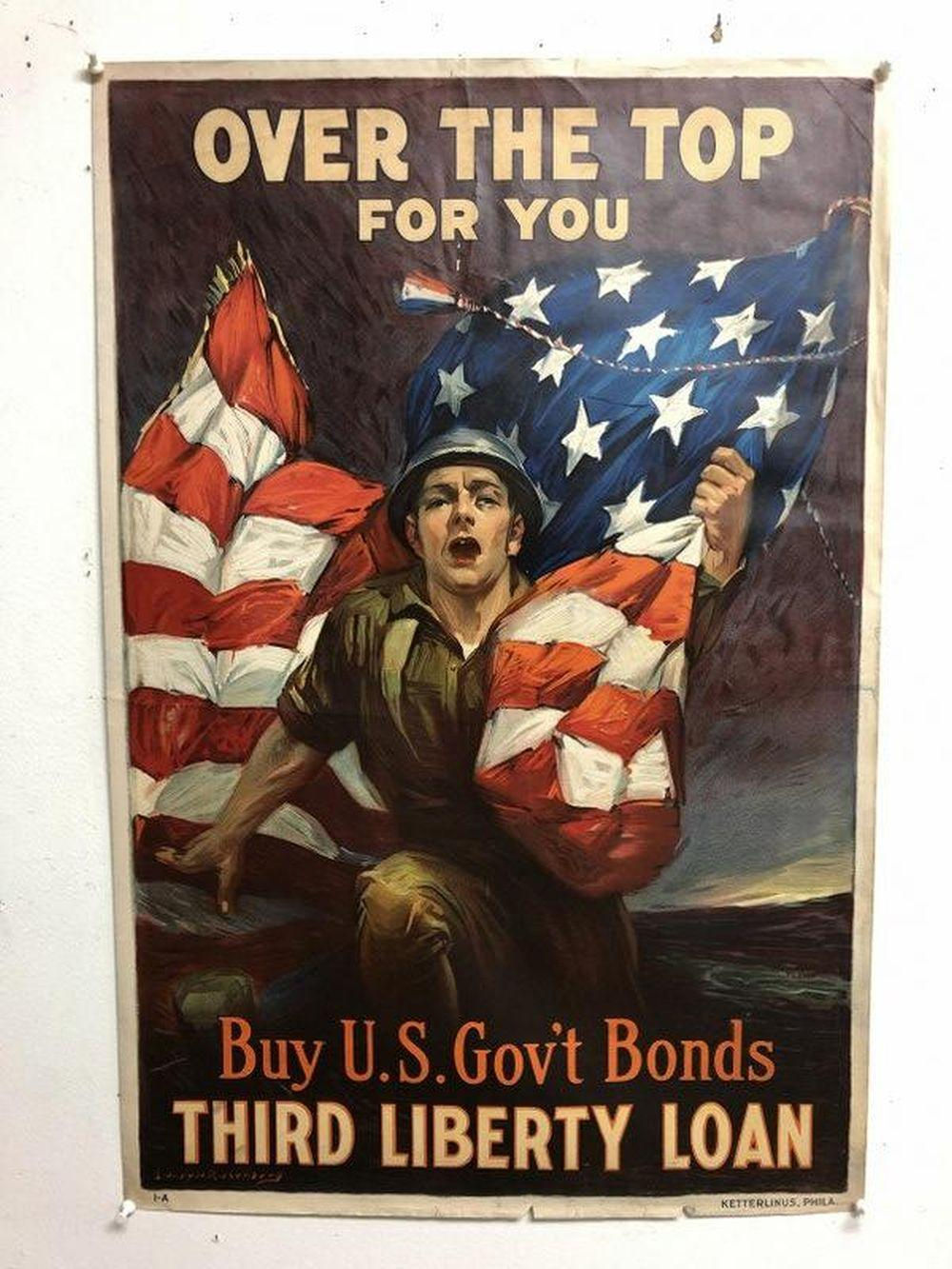 WWI POSTER-BUY US GOV'T BONDS THIRD LIBERTY LOAN,