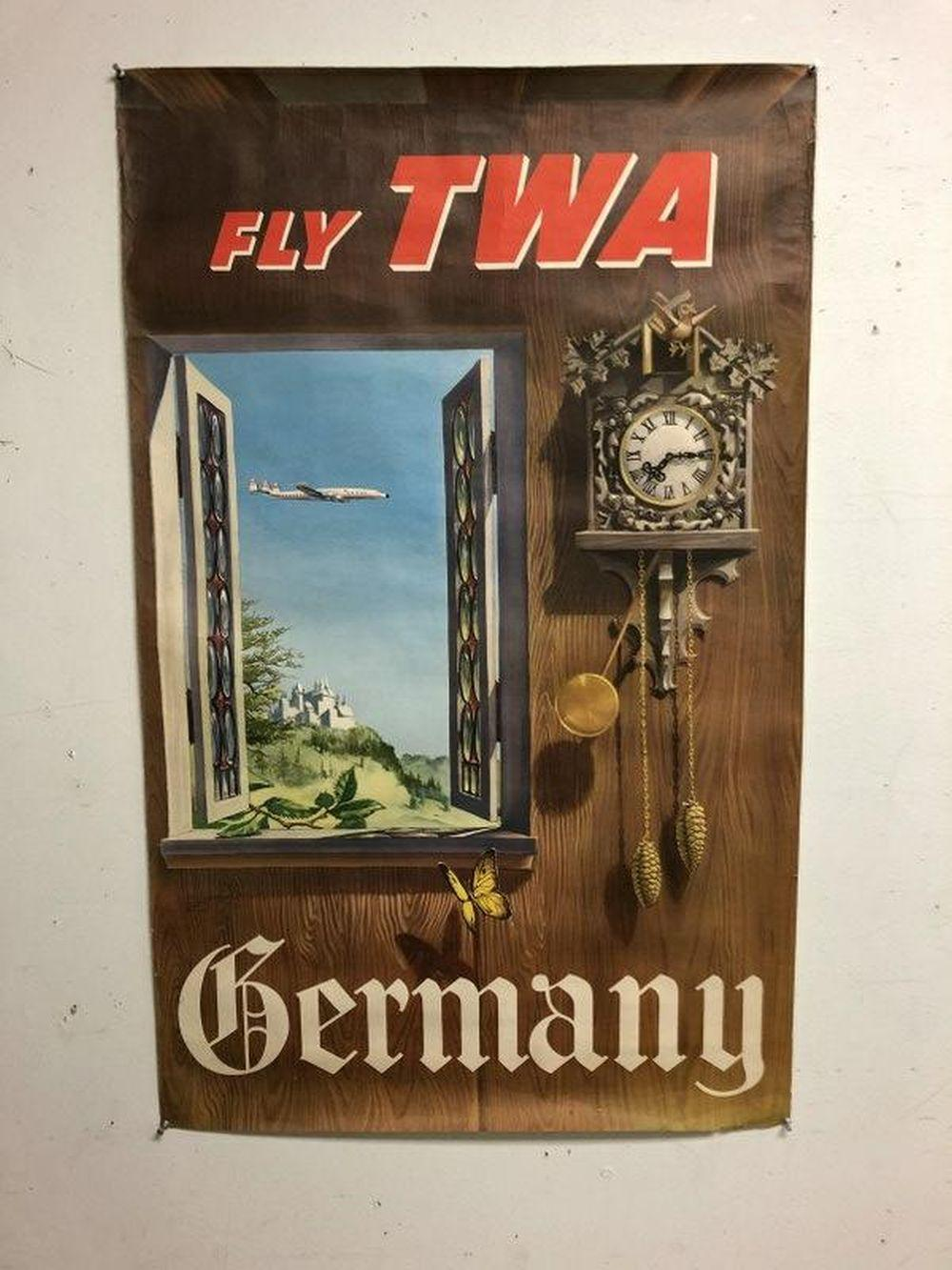 FLY TWA GERMANY, 1950