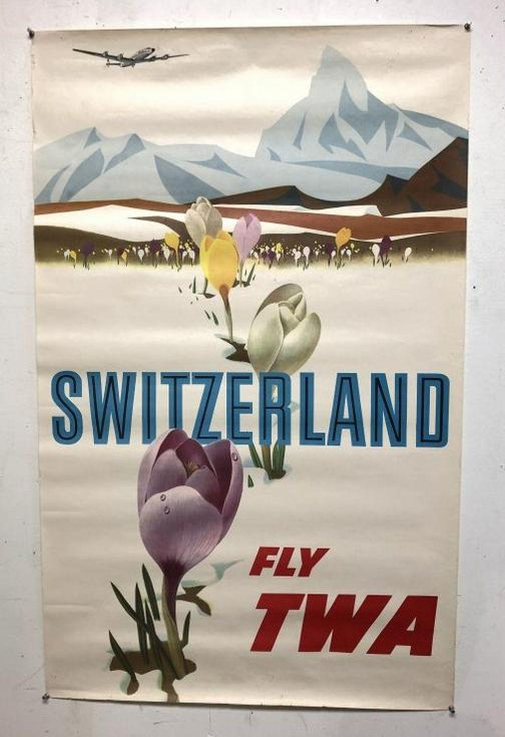 TWA SWITZERLAND 1950
