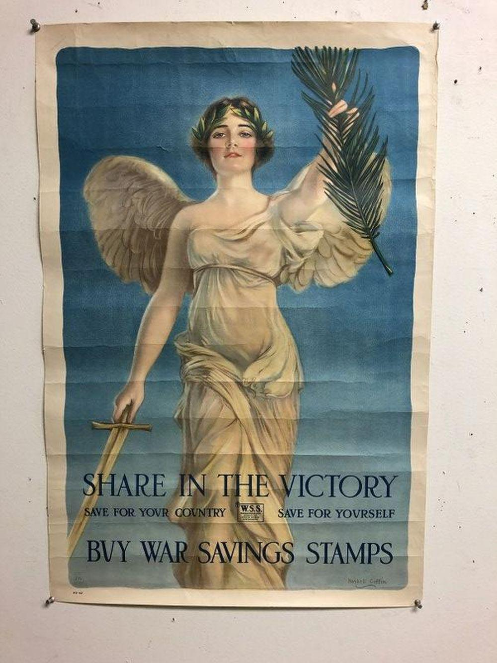 JOAN OF ARC WWI POSTER, ARTIST HASKELL COFFIN, MEASURES