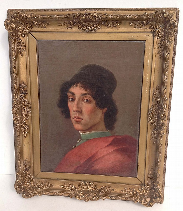 FILIPPINO LIPPI? O/C portrait of young man