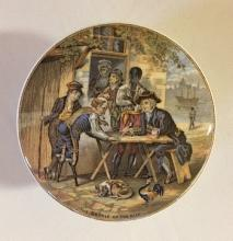 The Battle of the Nile: Staffordshire Transfer Soap or Toothpaste Container