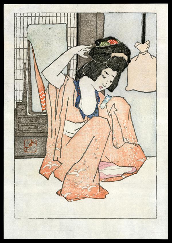 Original Japanese woodblock print by Tobari Kogan