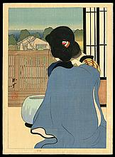 Original Japanese woodblock print by Tobari Kogan