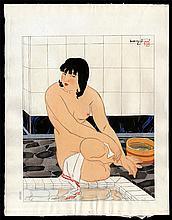 Original Japanese woodblock print by Ishikawa Toraji