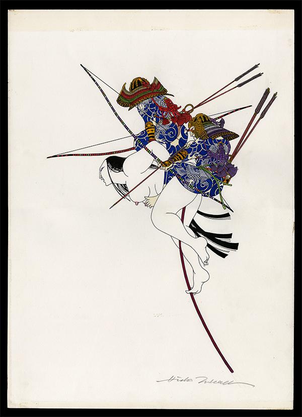 Original Japanese painting by Hideo Takeda