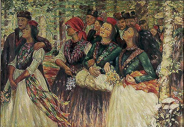 After Karl Bantzer (German 1857-1941) Wedding Walk