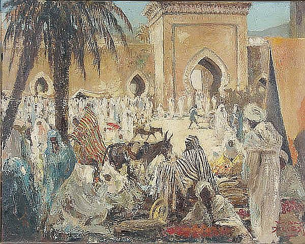 Dirk Van Driest (Dutch/American 1889-1989) Arabian