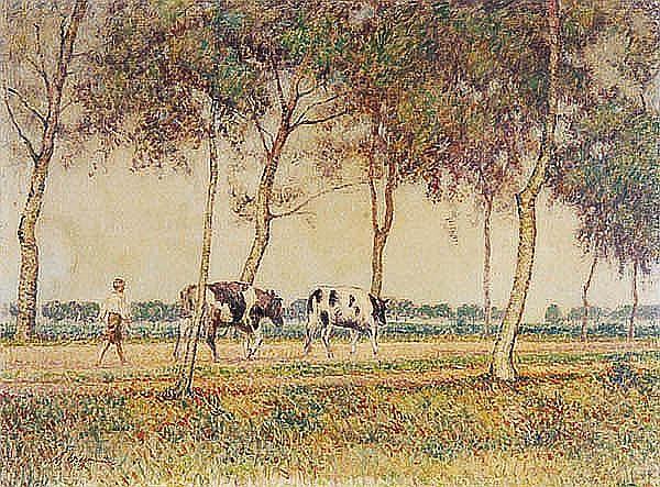 Alfred Wiegmann (German 1886-1973) Impressionistic