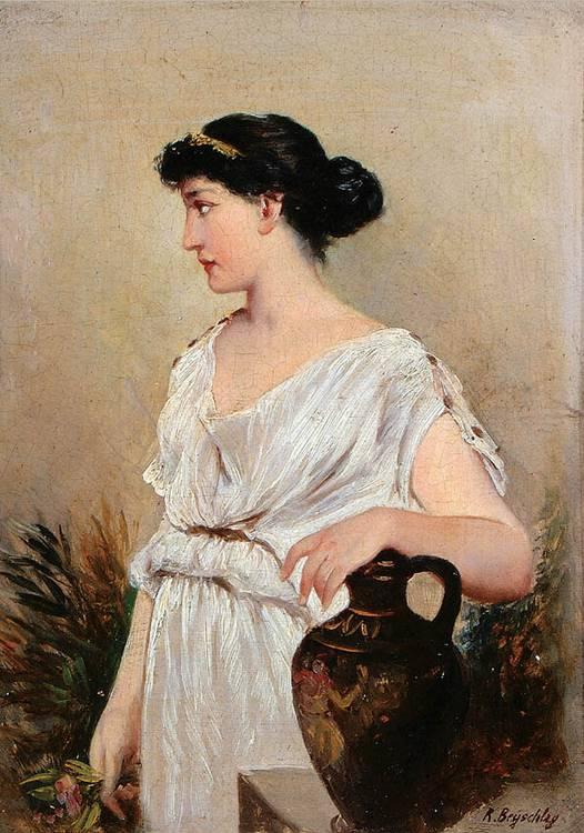 ROBERT JULIUS BEYSCHLAG (German 1838-1903) A Grecian Beauty