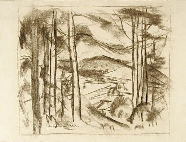 A GROUP OF FIVE AMERICAN WORKS ON PAPER 19th-20th