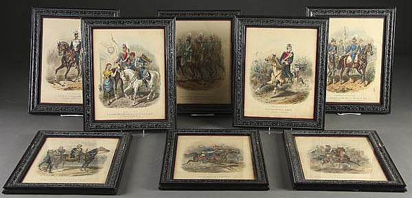 22 FRAMED PRUSSIAN MILITARY COLOR LITHOGRAPHS