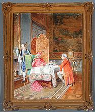 Bernard Louis Borione (French 1865- ?) Watercolor
