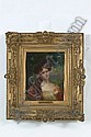 """LETITIA BONNET HART (American b.1867) """"Portrait of a Young Beauty"""" oil on canvas, signed lower left. 10""""x8""""."""