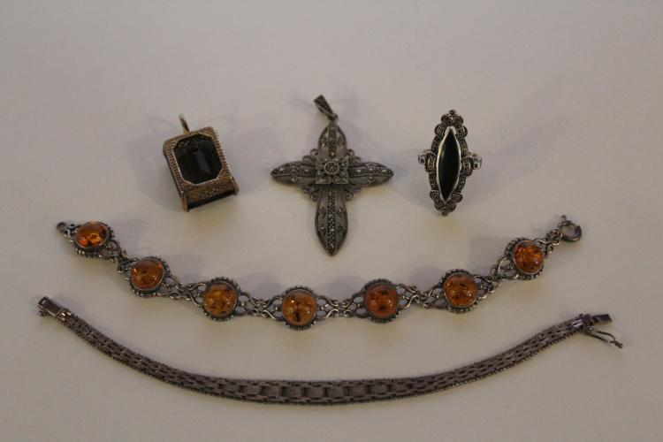 One lot of Costume & Marcasite jewelry