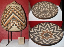 Beautiful lot of Woven Baskets by Zulu Tribe in Southern Africa - Signed