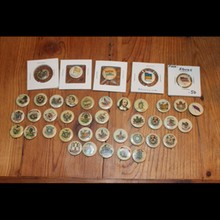 40 Antique Tobacco Pins