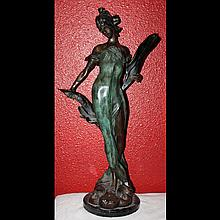Bronze Cast of Signed Egisto Rossi of Galatea Greek Sea Nymph