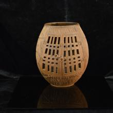 Bamboo shaped Ceremic candle lamp