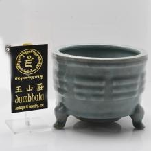 Long Quan Celadon Porcelain Tripod Censer