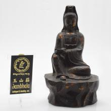 Marked Iron Carved Guanyin Statue