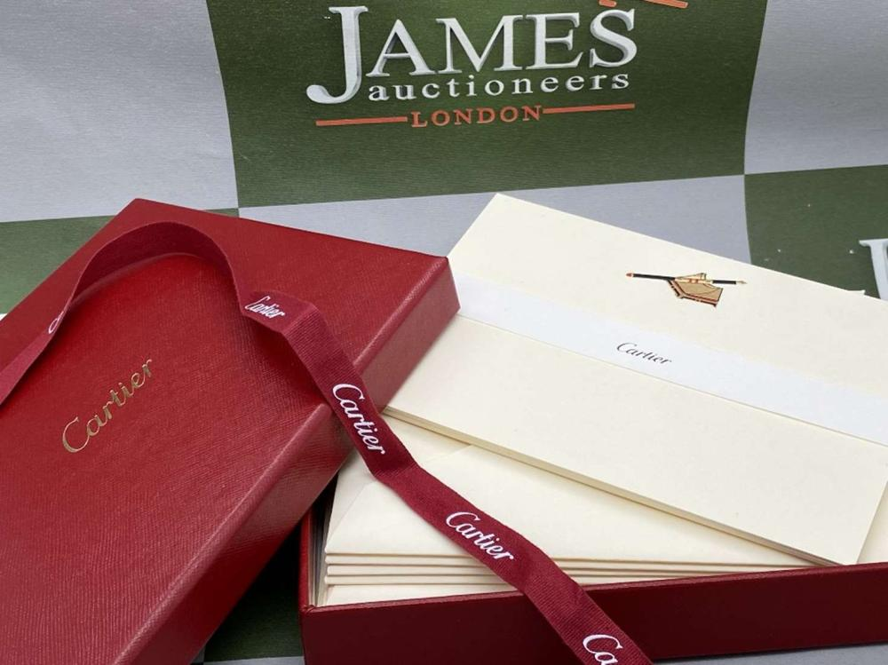 Cartier Paris Stationary Note Card & Envelope x10, Fountain Pen Embossed edition