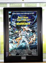 A James Bond 007 Sir Roger Moore Moonraker Signed Promo  COA included
