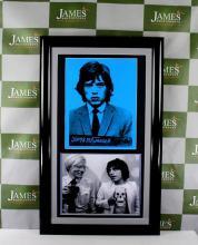 Rare Andy Warhol - Mugshot of Rolling Stones frontman Mick Jagger, RRP £899