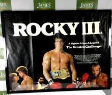 An original Rocky 3 promotional poster framed gloss black