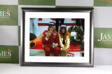 Motor racing interest -retro picture of James Hunt from hall of fame Le Man 24hr museum