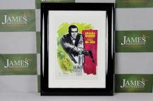 James Bond 007 professionally framed retro  movie promo -