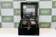 A designhutte watch winder for 2 watches, holds 6,  mint ex display, 2 keys, digital control, manual etc