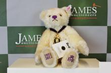 A Steiff diamond jubilee teddy bear, boxed & certificate