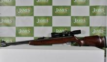 A SMK 2.2 air rifle with scope & case. Mint condition ex display lot